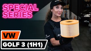 Watch the video guide on VW GOLF III (1H1) Air Filter replacement