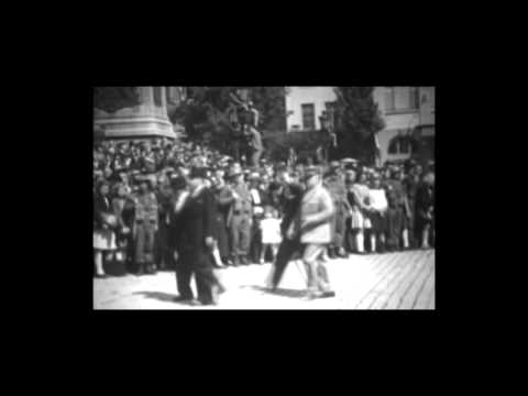 Sir Winston Churchill visite Luxembourg 1946