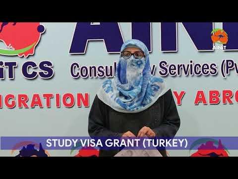 Visa Grant- Turkey Study Abroad