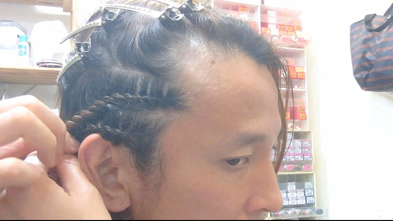 コーンロウより簡単 自分でロープロウ Cornrow your own hair