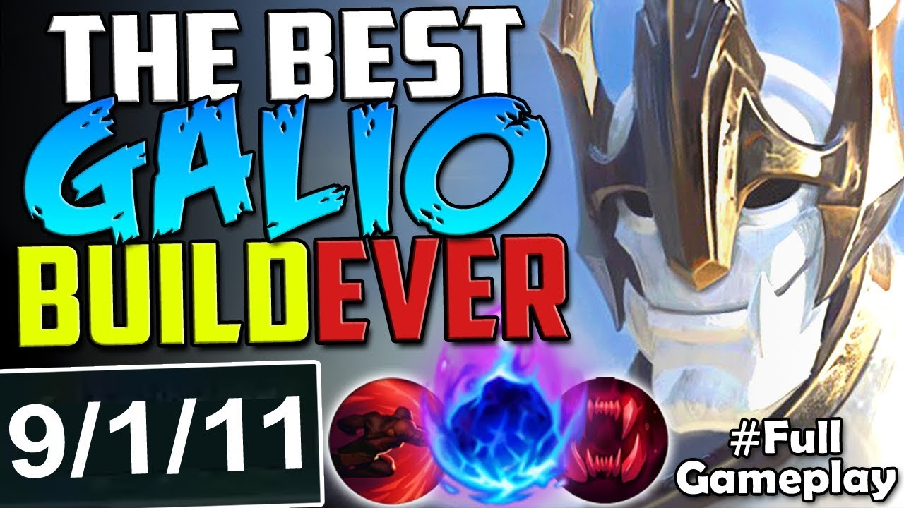 THE BEST GALIO BUILD EVER | WIN EASILY | New Runes Galio ...