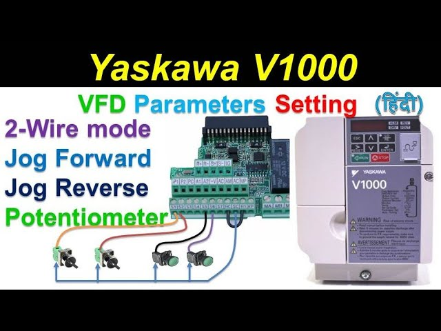 [SCHEMATICS_43NM]  🔴yaskawa drive parameter setting | Jog forward reverse | 2 wire mode |  potentiometer |Remote| Hindi - YouTube | Wiring Diagram Remote Potentiometer |  | YouTube