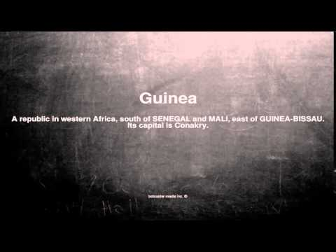 Medical vocabulary: What does Guinea mean