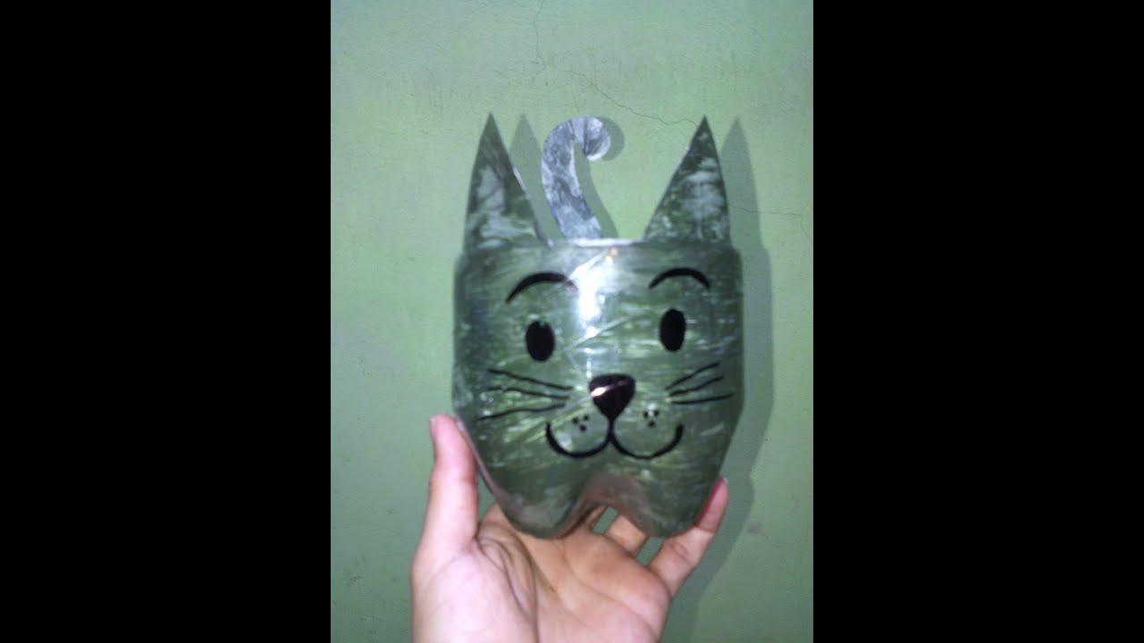Gato elaborado con botella pl stica manualidades con - Botellas de plastico manualidades ...