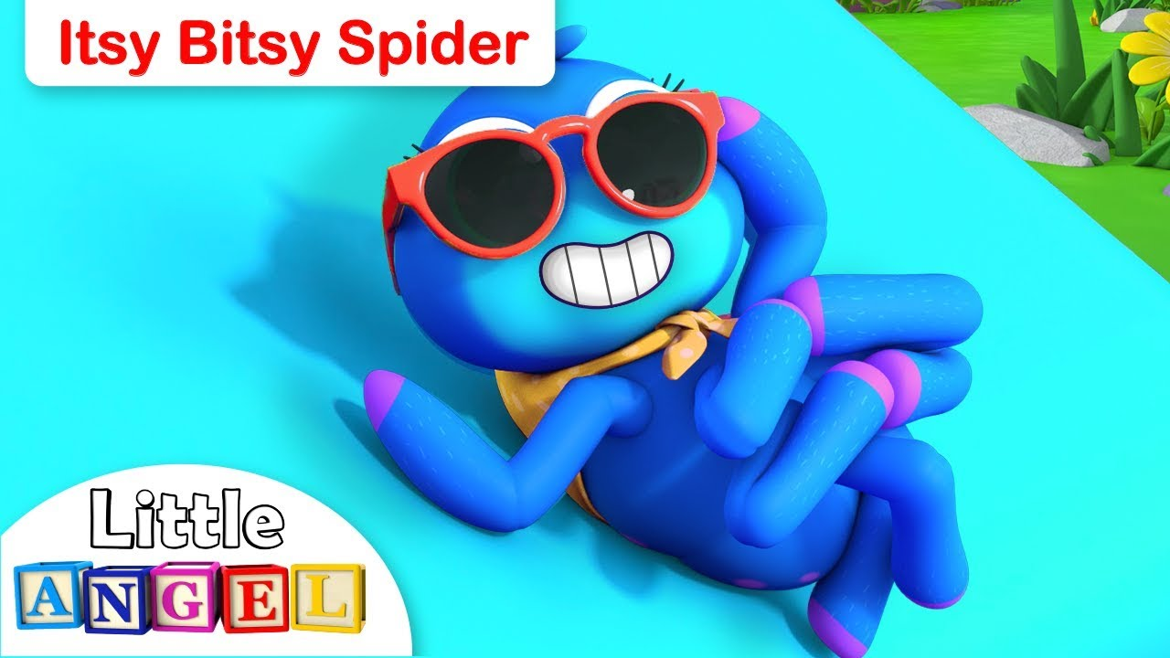 Itsy Bitsy Spider Went Up the Water Spout | Animal Kids Songs | Nursery Rhymes by Little Angel