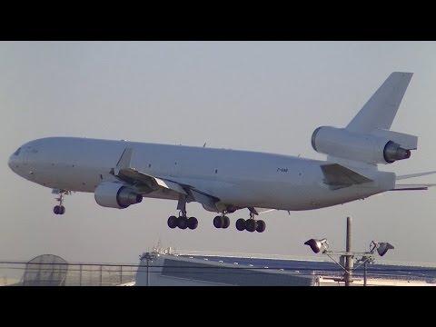 ✈アフリカからの超レア機日本初飛来!!! Global Africa Aviation MD-11F Z-GAB landing @Narita Airport rwy34L(成田空港/エボラ)