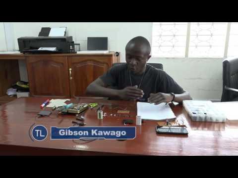 Gibson Kawago Akitengeneza Chaja Ya Mionzi ya Jua Solar Power Bank