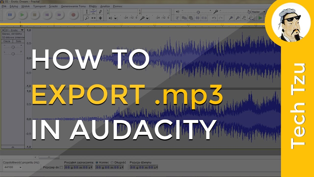 How to Export mp3 in Audacity