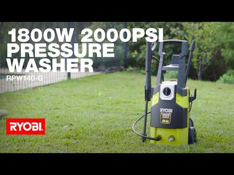 RYOBI: 1800W 2000PSI Pressure Washer - RPW140-G in action