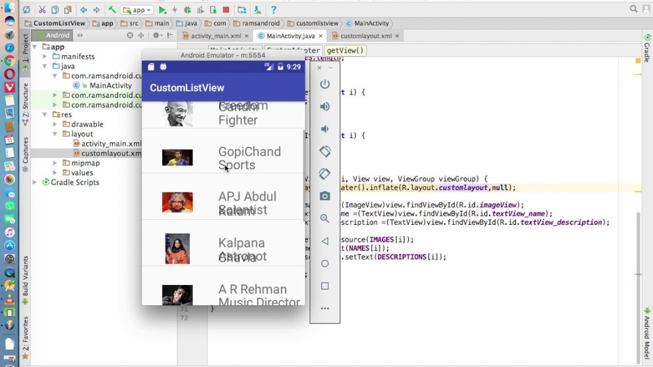 Android Studio How To Add An List In Design View