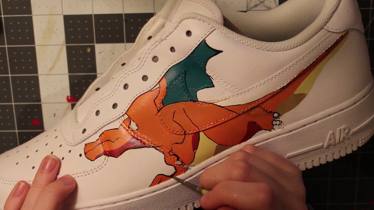 6d5da614fe897 Custom HAND PAINTED Pokemon Nike AIR FORCE 1S