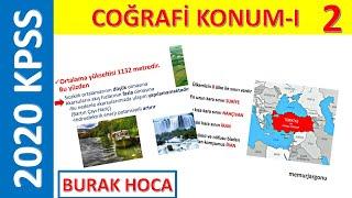 2)2020 KPSS COĞRAFYA-COĞRAFİ KONUM-I (BURAK HOCA)