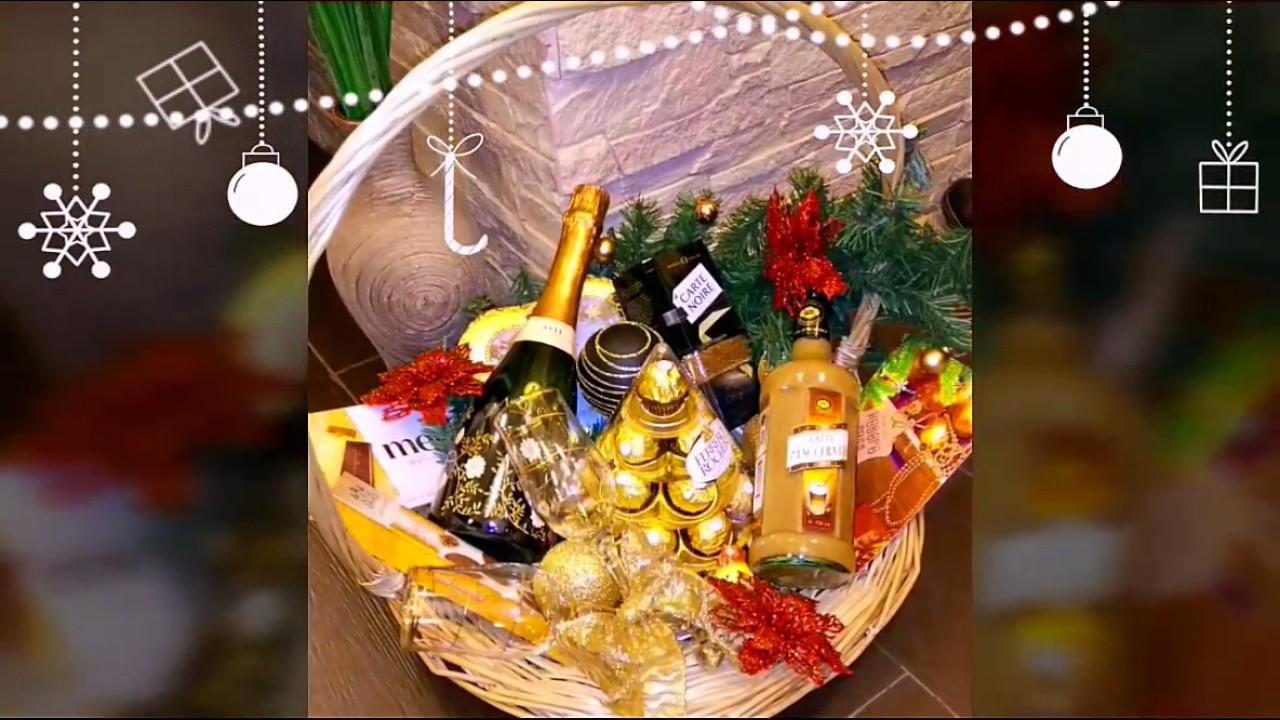 Как сделать подарок в корзине 223