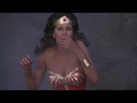 Lynda Carter's Wonder Woman Jumps On A Helicopter