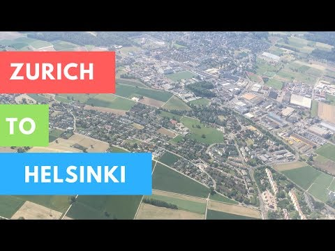 TAKE OFF FROM ZURICH AIRPORT TO HELSINKI A320 FINNAIR