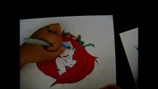 Drawing Ariel (The Little Mermaid)