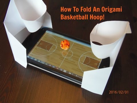 Full download origami basketball hoop instructions for How to build a basketball goal