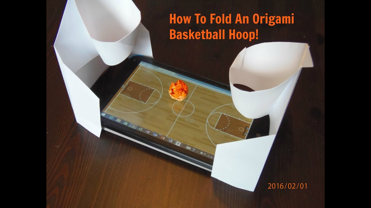 how to fold an origami basketball net youtube
