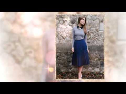 С чем носить плиссированную юбку миди - YouTube