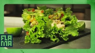 Just Tacos || Salmon Lettuce Tacos Ft. Chef Roblé