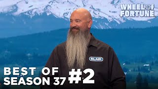 Blair Jokes About His Family (and Beard) | Wheel of Fortune