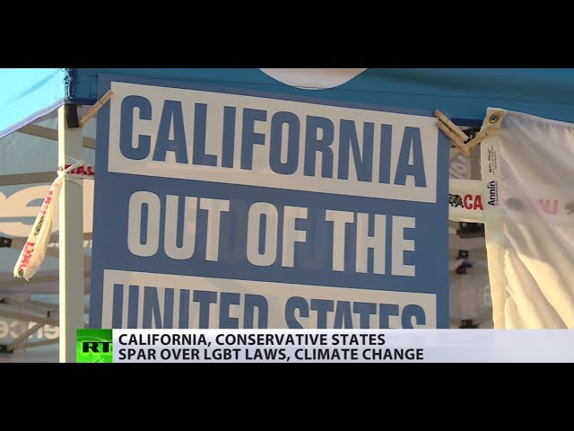 Divided they stand? Liberal and conservative states spar over LGBT laws, climate change