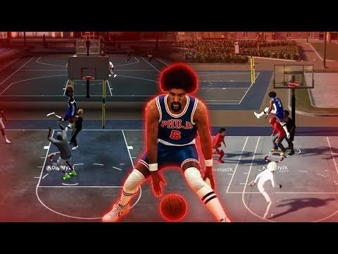 JULIUS ERVING CRAZY CONTACT DUNKS AT THE PARK! NBA 2K19 SLASHER MIXTAPE
