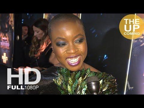 Danai Gurira Black Panther premiere interview in London