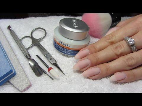 How to refill/infil GEL NAILS * uzupełnienie/korekta paznokci ŻELOWYCH - IBD PINK V