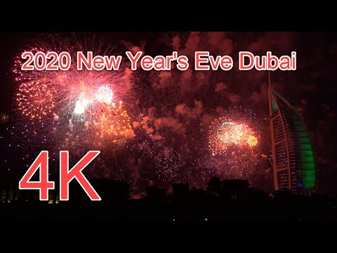 2019/20 New Year's Eve Fireworks 4K – Burj al Arab, Dubai