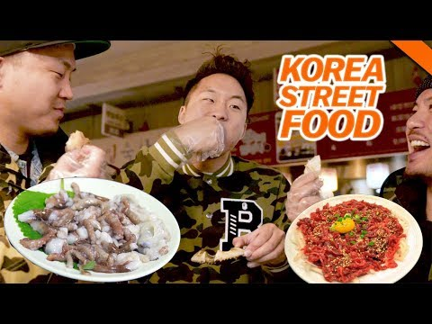 KOREAN STREET FOOD YOU'VE NEVER HAD (Live Octopus & Raw Beef) - Fung Bros Food