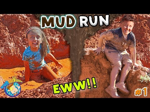 KIDS MUD OBSTACLE COURSE! RACE WORKOUT CHALLENGE! Playing w DIRT & WATER FUNnel Vision Vlog