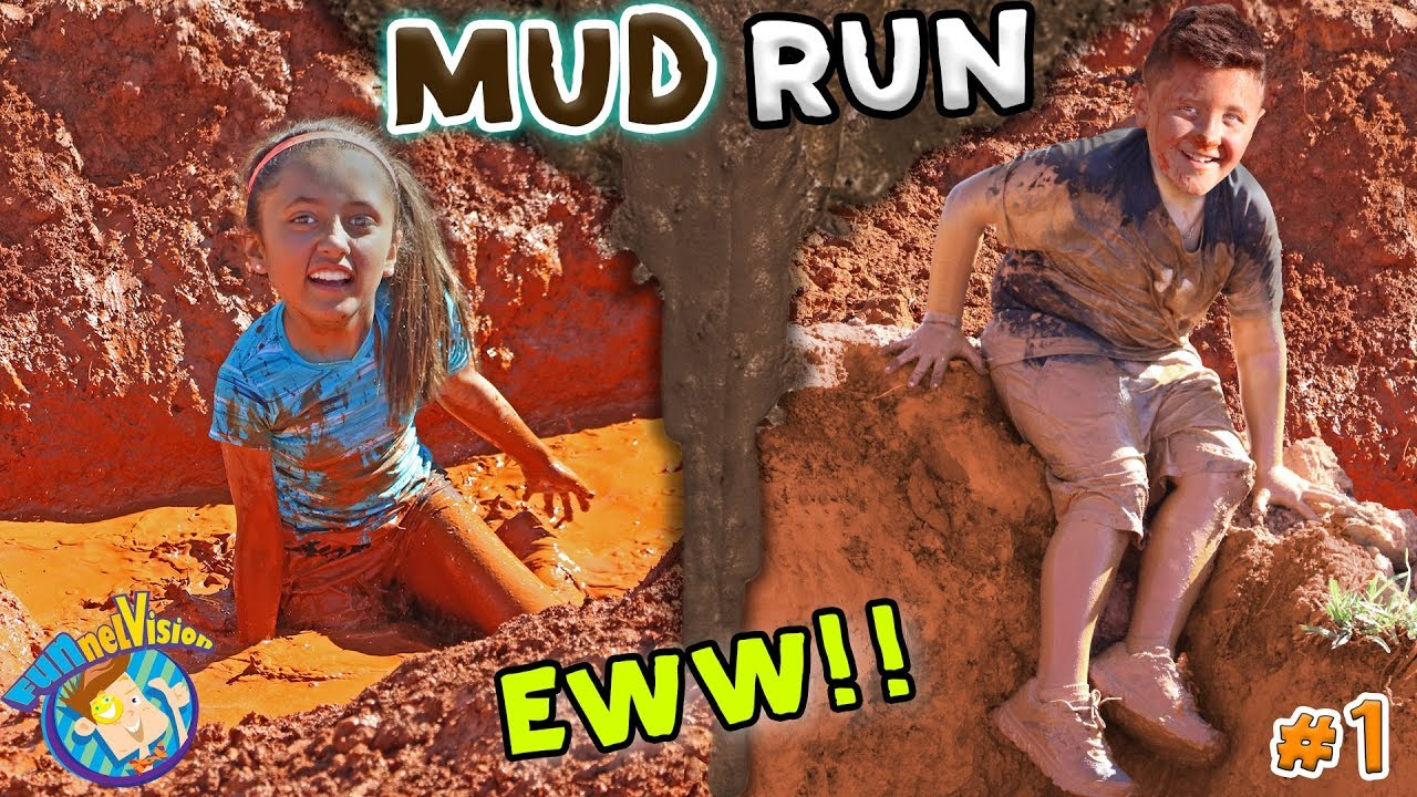 Download KIDS MUD OBSTACLE COURSE! RACE WORKOUT CHALLENGE! Playing w  DIRT & WATER FUNnel Vision Vlog