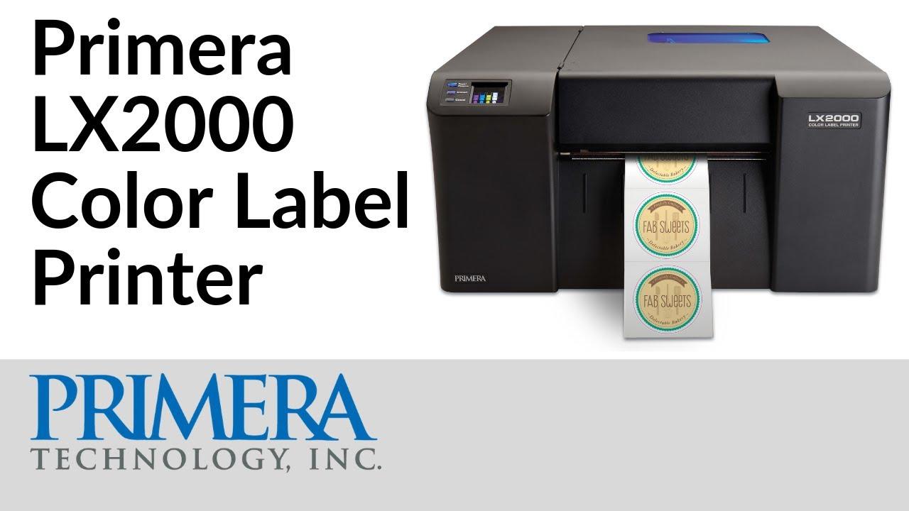 lx2000 color label printer youtube
