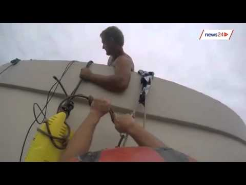 WATCH: Dare-devil abseiling team cleans high-rise building in Durban