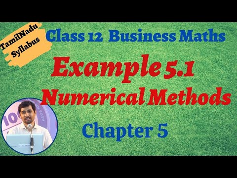 Download Class 12 Business Maths | Example 5 1 | Numerical