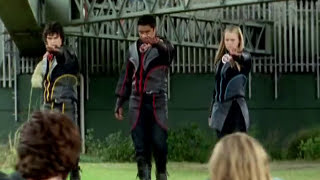 Power Rangers Dino Thunder - Power Rangers vs Evil Wind Rangers | Ninja Storm Team Up Episode