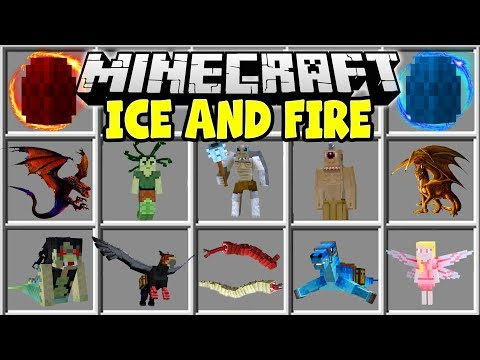 Minecraft ICE AND FIRE DRAGONS MOD | RIDE DRAGONS, FIGHT CYCLOPS, TAME FLYING MOUNTS & MORE!!