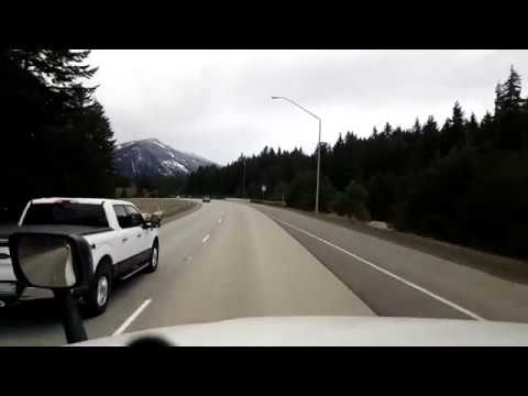 BigRigTravels LIVE! near Cle Elum, Washington to...Interstate 90 West-Feb. 15, 2018