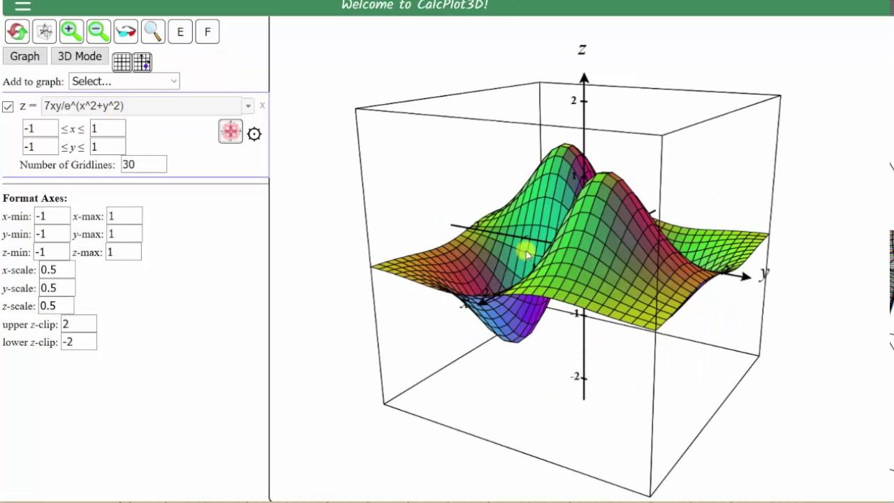 Graph a Contour Plots (Level Curves) Using 3D Calc Plotter