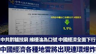 中共黔驢技窮 維穩淪為口號 中國經濟各種地雷將出現連環爆炸|新唐人亞太電視|20200101