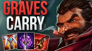 GRAVES JUNGLE SOLO CARRY GAMEPLAY! | CHALLENGER GRAVES JUNGLE GAMEPLAY