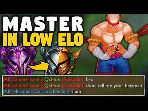 WHEN A MASTER LEE SIN VISITS LOW ELO - League of Legends thumbnail