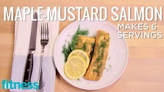 Maple-Mustard Salmon  Spice it Up  Fitness