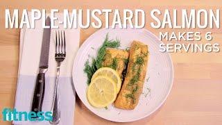 Maple-Mustard Salmon  Spice it Up  Fitness