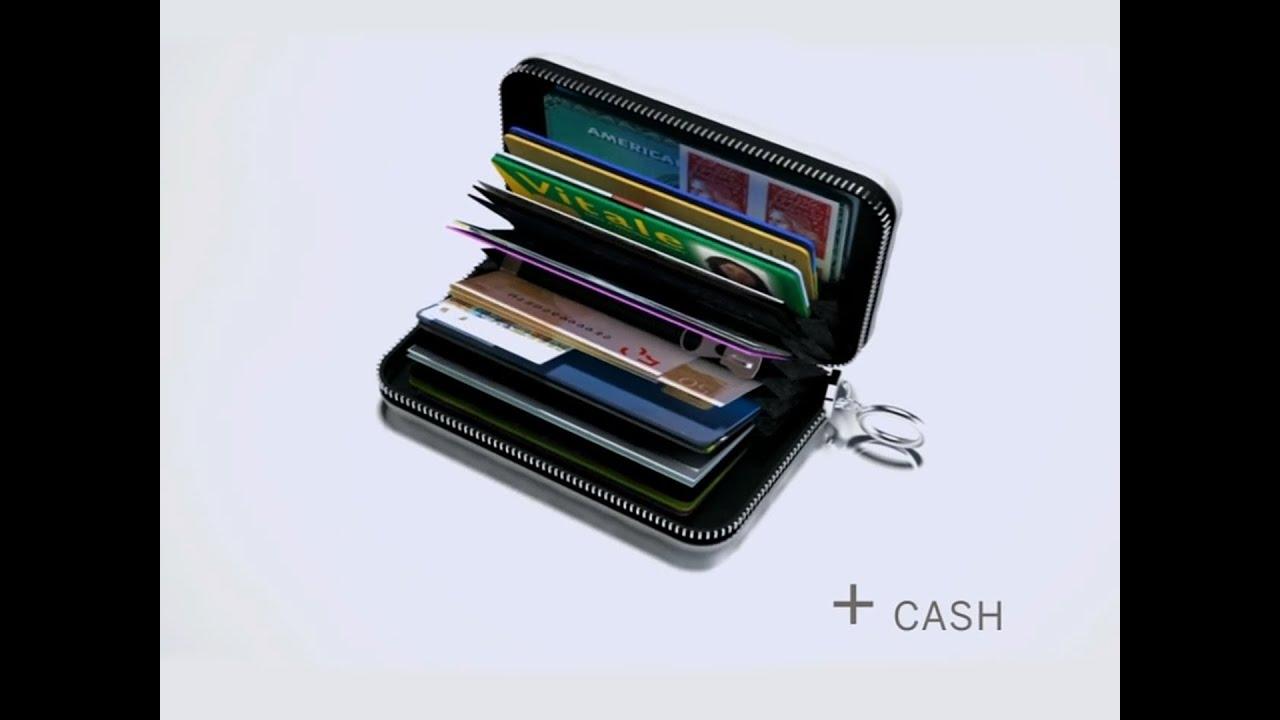 QUILTED ZIPPER High Capacity Card Case PorteCartes Grande - Porte carte ogon