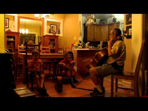 Cello Thumb Position. 4 years old live performance. Gasse School of Music. Forest Park Illinois