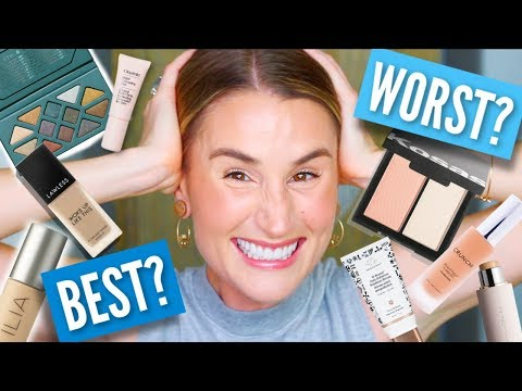 BEST + WORST CLEAN MAKEUP...LITERALLY EVERYTHING! | #CLEANROUTINE2019 6-Month Roundup