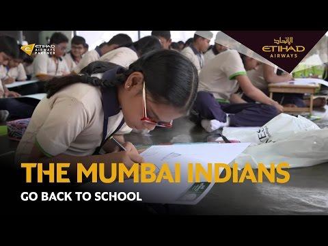 Back to school with the Mumbai Indians   Etihad Airways