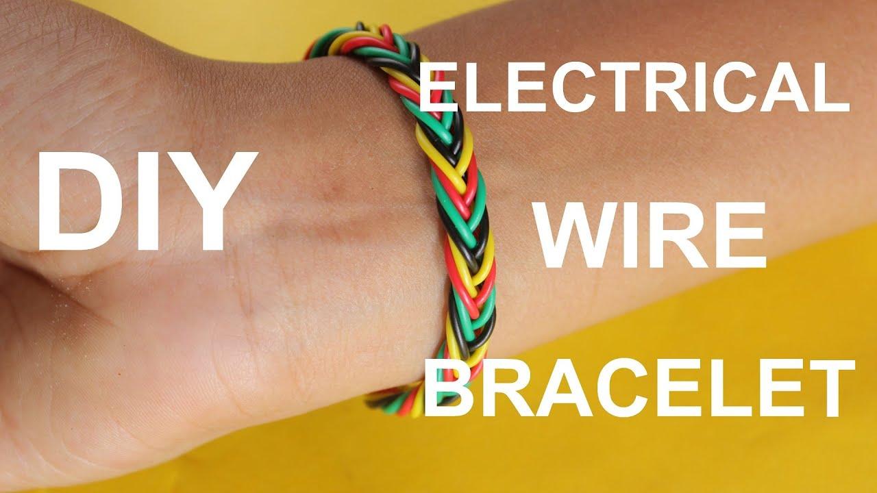 DIY Electrical Wire Bracelet - YouTube